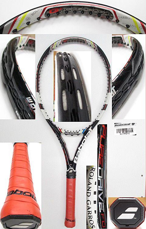 【中古 テニスラケット】BA0642 バボラ ピュアドライブ フレンチオープン(2013年モデル)