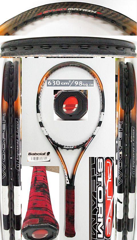 【中古 テニスラケット】BA0731 バボラ ピュアストームチーム(2004年モデル)