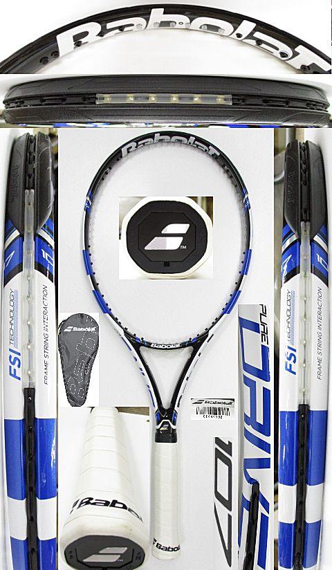 【中古 テニスラケット】BA0737 バボラ ピュアドライブ107(2015年モデル)