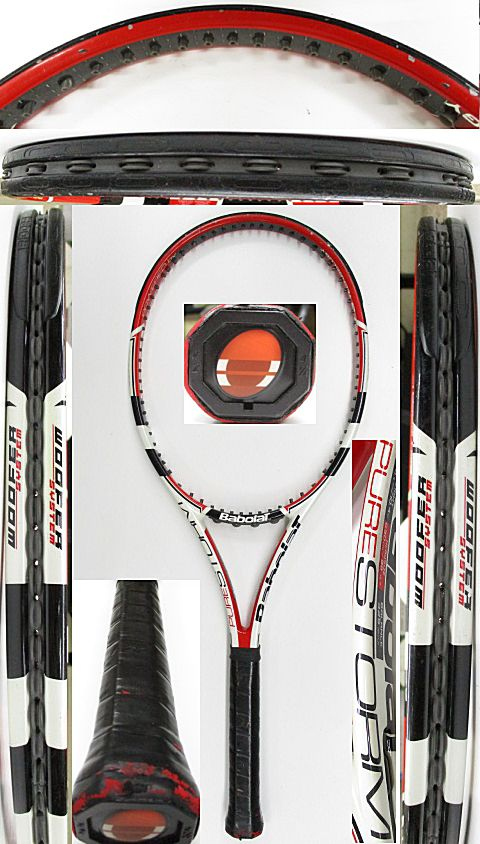 【中古 テニスラケット】BA0759 バボラ ピュアストーム(2009年)