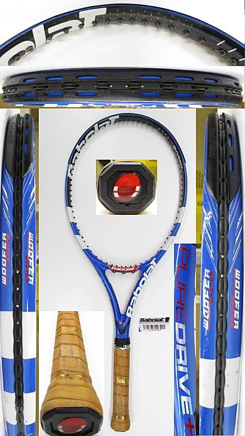【中古 テニスラケット】BA0763 バボラ ピュアドライブ+(2009年)