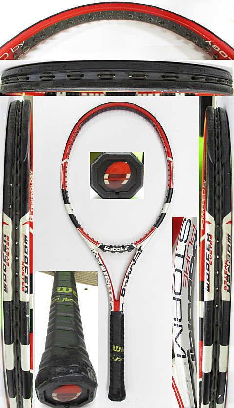 【中古 テニスラケット】BA0785 バボラ ピュアストームリミテッド(2009年モデル)