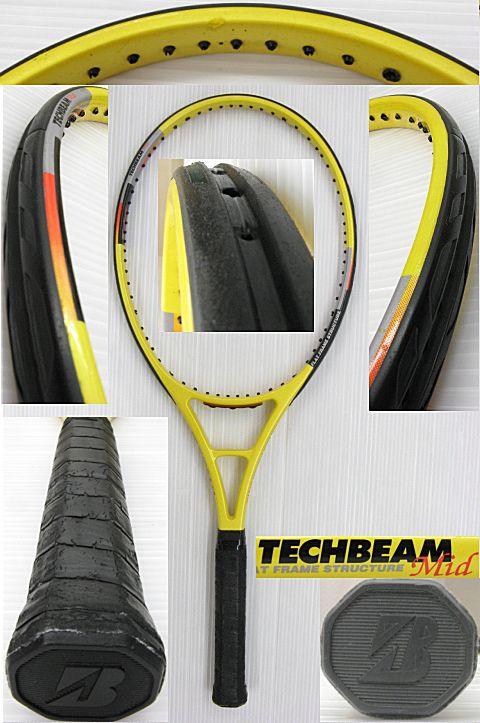 【中古 テニスラケット】BS0037 ブリヂストン テックビーム ミッドサイズ