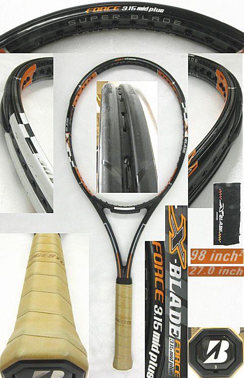 【中古テニスラケット】ブリヂストン X(エックス)ブレード フォース 3.15 ミッドプラス X-BLADE FORCE 3.15 MIDPLUS