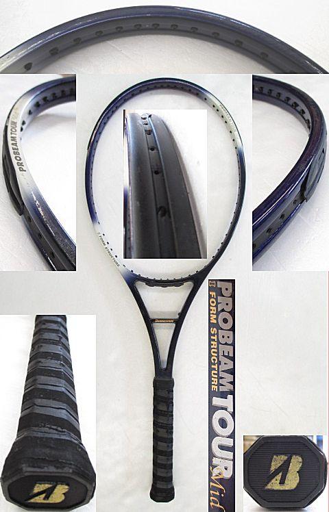 【中古 テニスラケット】BS0146 ブリヂストン プロビームツアーMID