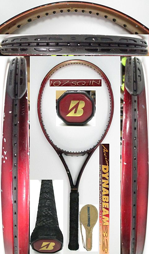 【中古 テニスラケット】BS0166 ブリヂストン アクシムダイナビーム32