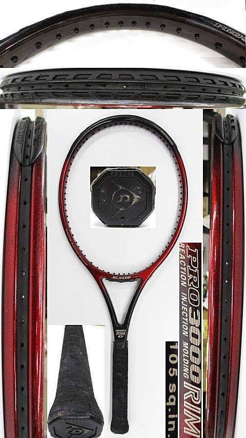 【中古 テニスラケット】D0006 ダンロップ PRO3000RIM