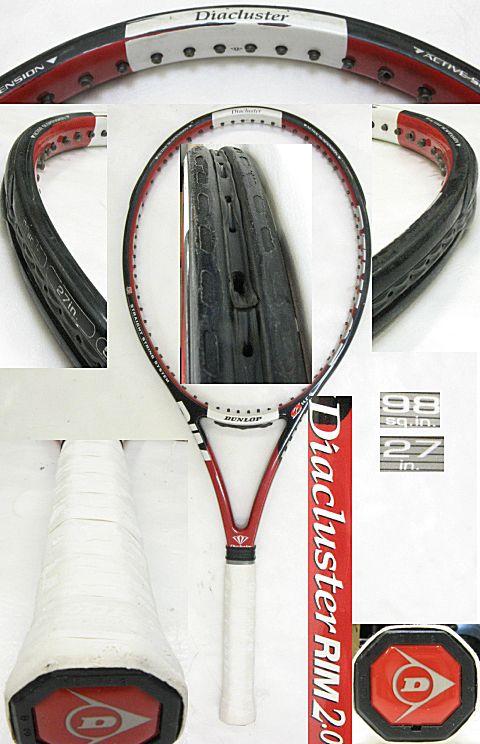 【中古テニスラケット】ダンロップ ダイアクラスター リム2.0 Diacluster RIM2.0