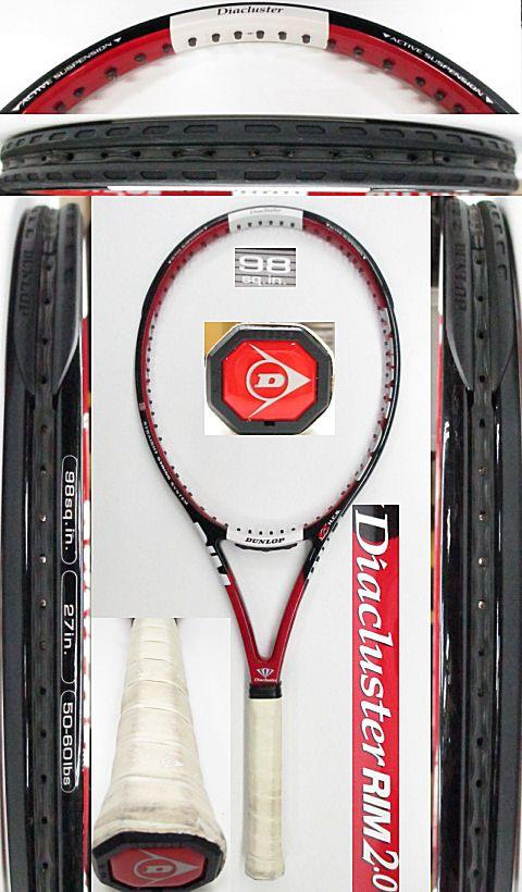 【中古 テニスラケット】D0515 ダンロップ ダイアクラスターRIM2.0