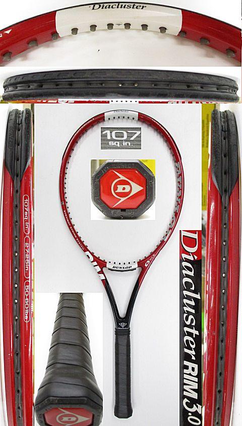 【中古 テニスラケット】D0606 ダンロップ ダイアクラスターRIM3.0