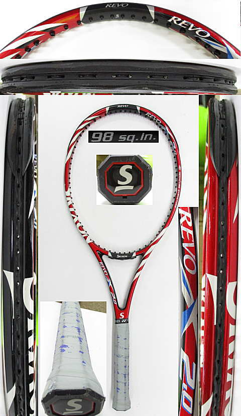【中古 テニスラケット】D0620 スリクソン REVO X2.0