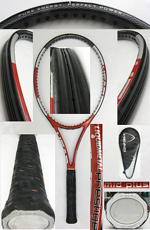 【中古テニスラケット】ヘッド リキッドメタル プレステージ ミッドプラス LIQUIDMETAL PRESTIGE MIDPLUS