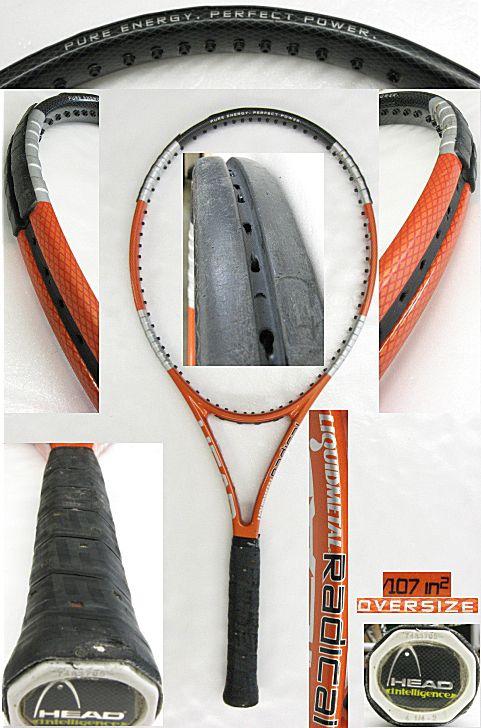 【中古テニスラケット】ヘッド リキッドメタルラジカル オーバーサイズ LIQUIDMETALRADICAL OVERSIZE