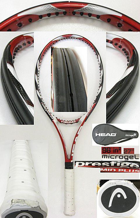 【中古テニスラケット】ヘッド マイクロジェル プレステージ ミッドプラス microgel prestige MIDPLUS