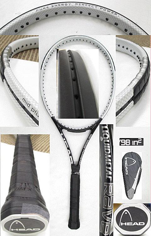 【中古 テニスラケット】H0427 ヘッド リキッドメタルRAVE