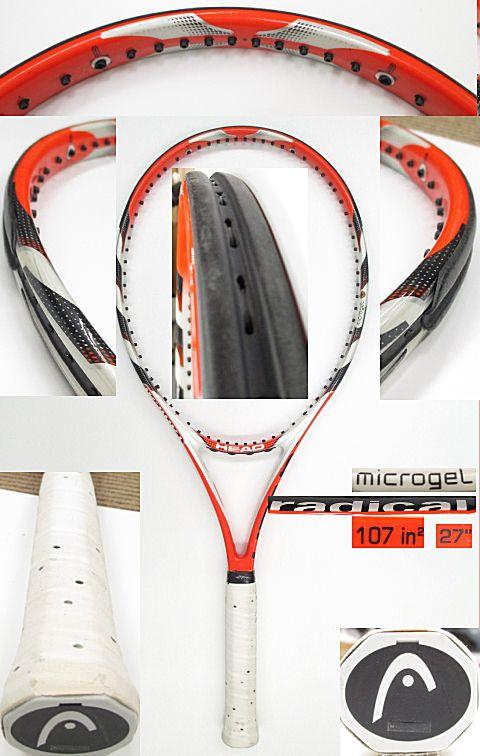 【中古 テニスラケット】H0431 ヘッド マイクロジェル ラジカルOS