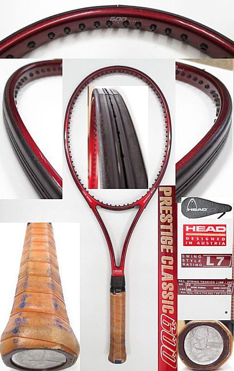 【中古 テニスラケット】H0472 ヘッド プレステージクラシック600