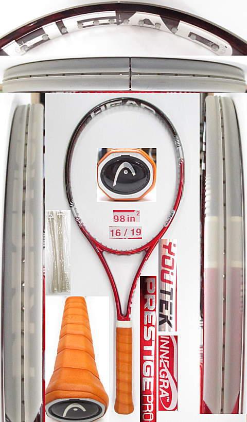 【中古 テニスラケット】H0504 ヘッド ユーテック IGプレステージPRO(16×19)