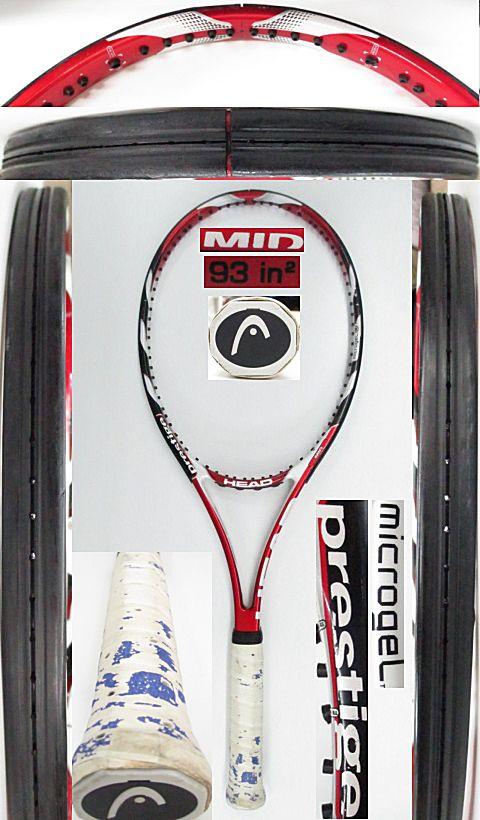 【中古 テニスラケット】H0554 ヘッド マイクロジェル プレステージMID