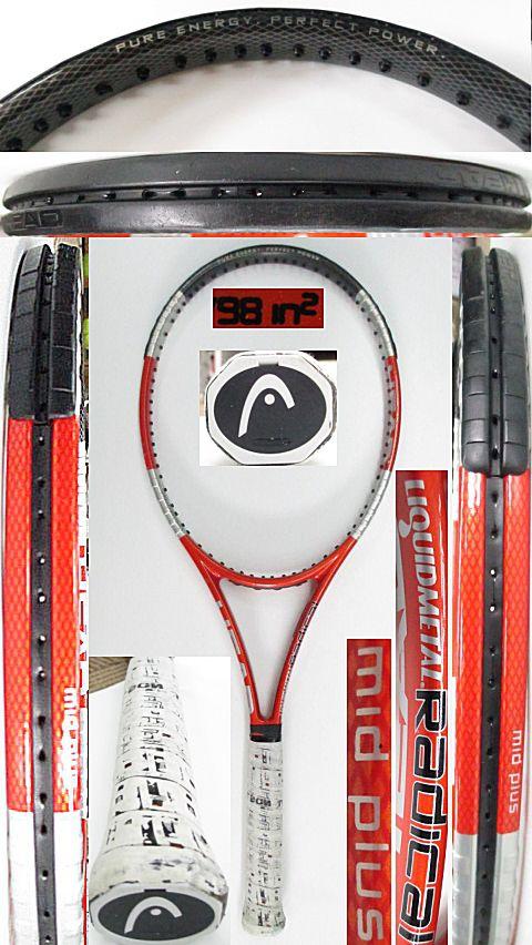 【中古 テニスラケット】H0555 ヘッド リキッドメタル ラジカルMP