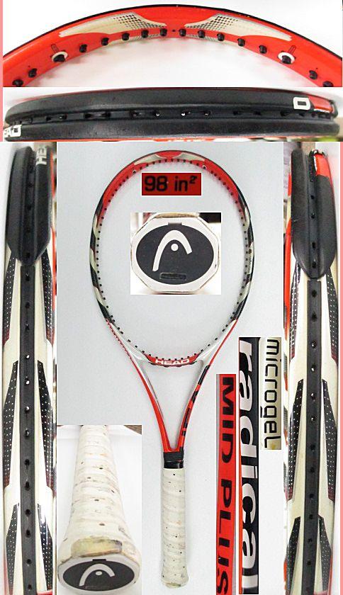 【中古 テニスラケット】H0558 ヘッド ユーテック ラジカルMP