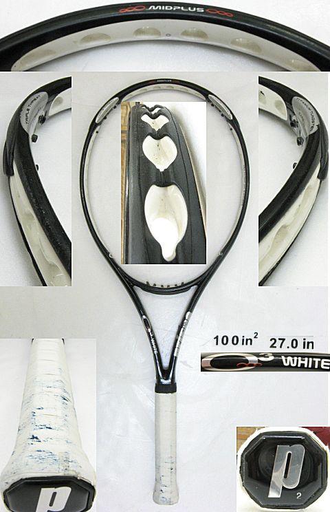 【中古テニスラケット】プリンス O3ホワイト O3 WHITE