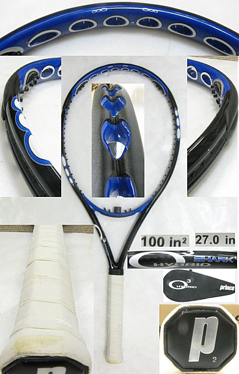 【中古テニスラケット】プリンス オースリー ハイブリッド シャーク O3 HYBRID SHARK