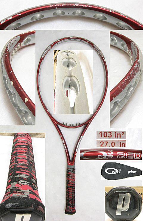 【中古テニスラケット】プリンス オースリー XF レッド O3 XF RED