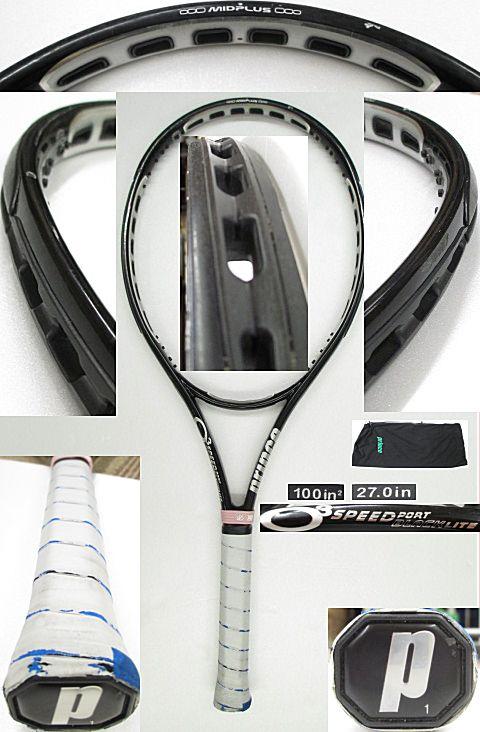 【中古テニスラケット】プリンス O3スピードポート ブラックライト O3 SPEEDPORT BLACK LITE