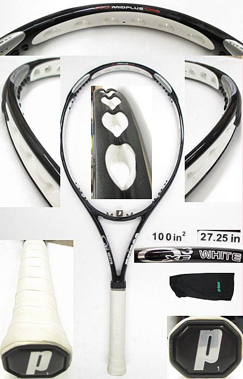 【中古テニスラケット】プリンス オースリーXFホワイト O3 XF WHITE