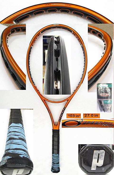 【中古 テニスラケット】P0560 プリンス O3スピードポートツアー