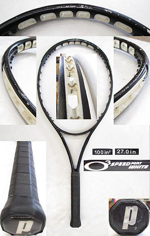 【中古 テニスラケット】P0566 プリンス O3スピードポート ホワイト