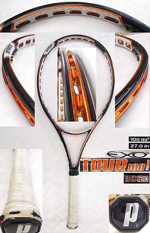 【中古 テニスラケット】P0568 プリンス EXO3ツアー100(18×20)