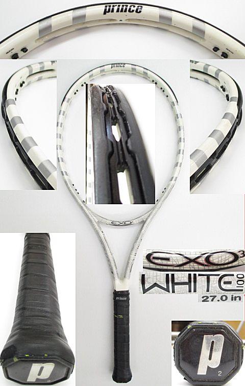 【中古 テニスラケット】P0582 プリンス EXO3ホワイト