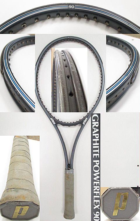 【中古 テニスラケット】P0605 プリンス グラファイト パワーフレックス90