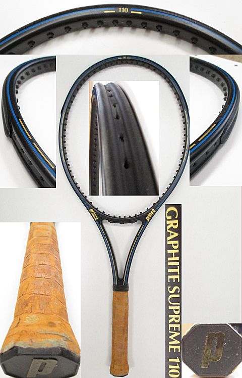 【中古 テニスラケット】P0606 プリンス グラファイト SUPREME110