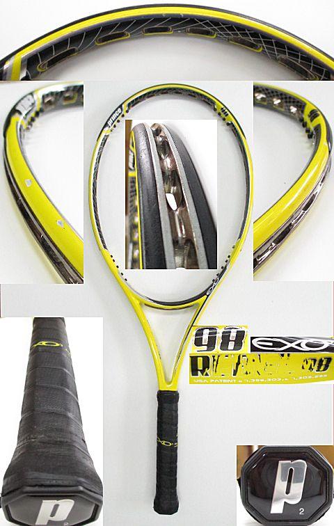 【中古 テニスラケット】P0617 プリンス EXO3レベル98