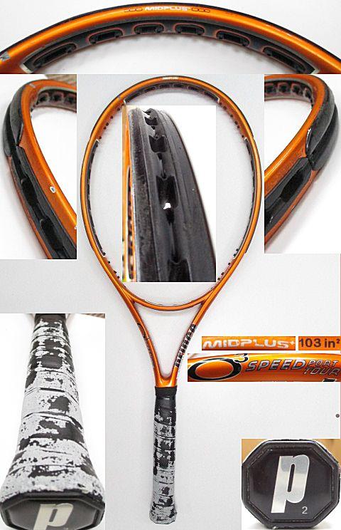 【中古 テニスラケット】P0624 プリンス O3スピードポートツアーMP+