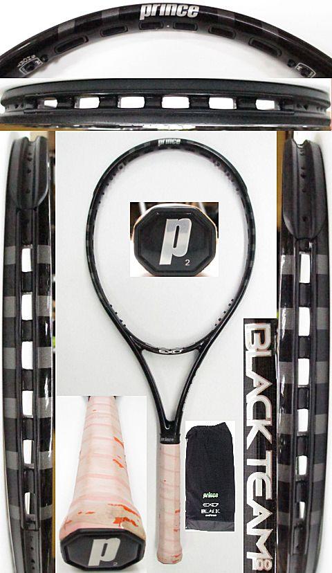 【中古 テニスラケット】P0667 プリンス EXO3ブラックチーム100