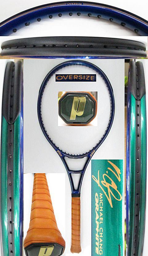 【中古 テニスラケット】P0692 プリンス マイケルチャングラファイト オーバーサイズ