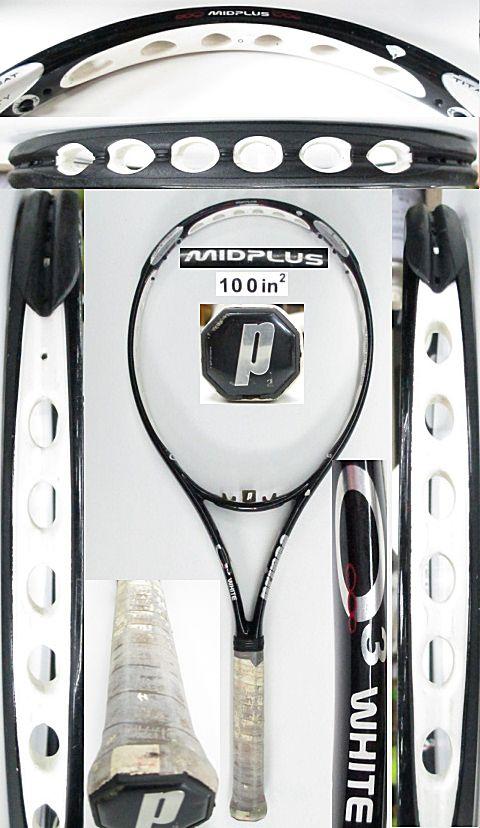 【中古 テニスラケット】P0704 プリンス O3ホワイト