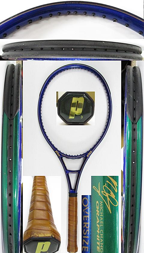 【中古 テニスラケット】P0727 プリンス マイケルチャン グラファイト オーバーサイズ