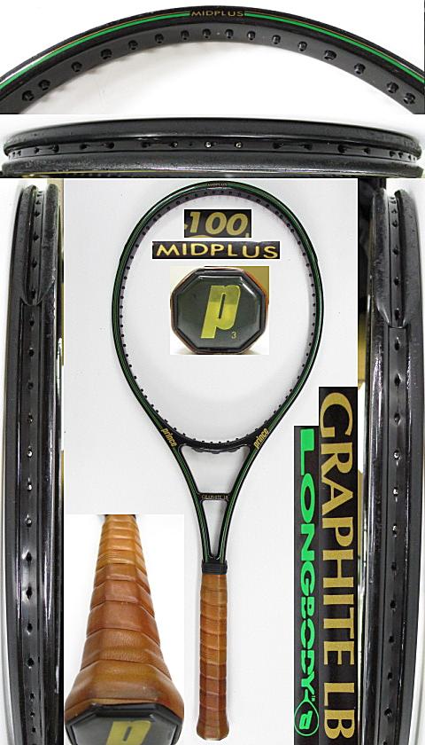 【中古 テニスラケット】P0731 プリンス グラファイトLB ミッドプラス