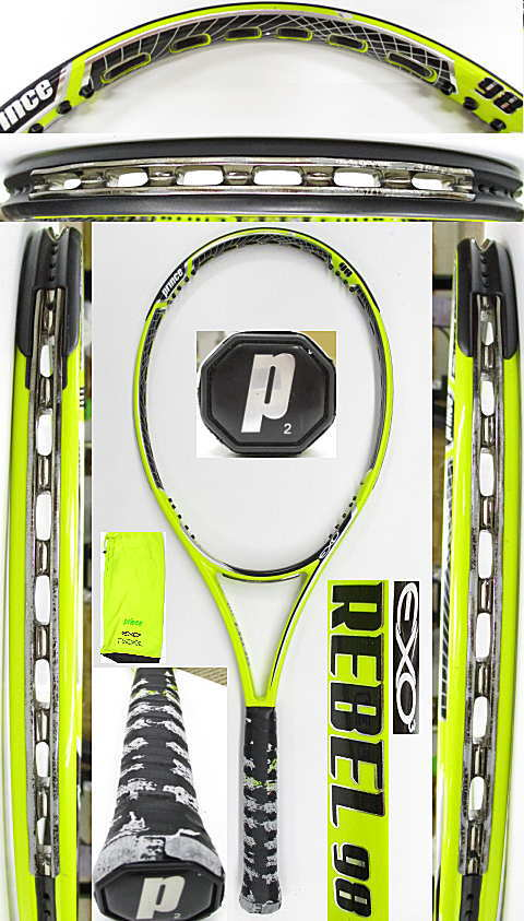 【中古 テニスラケット】P0737 プリンス EXO3レベル98