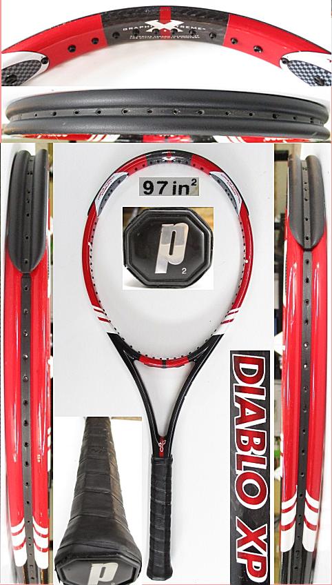 【中古 テニスラケット】P0740 プリンス ディアブロXP ミッドプラス