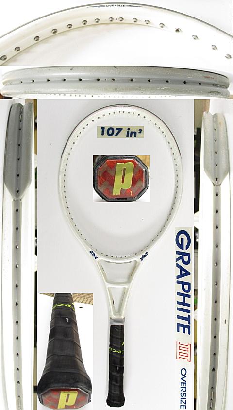 【中古 テニスラケット】P0742 プリンス グラファイトⅢ オーバーサイズ