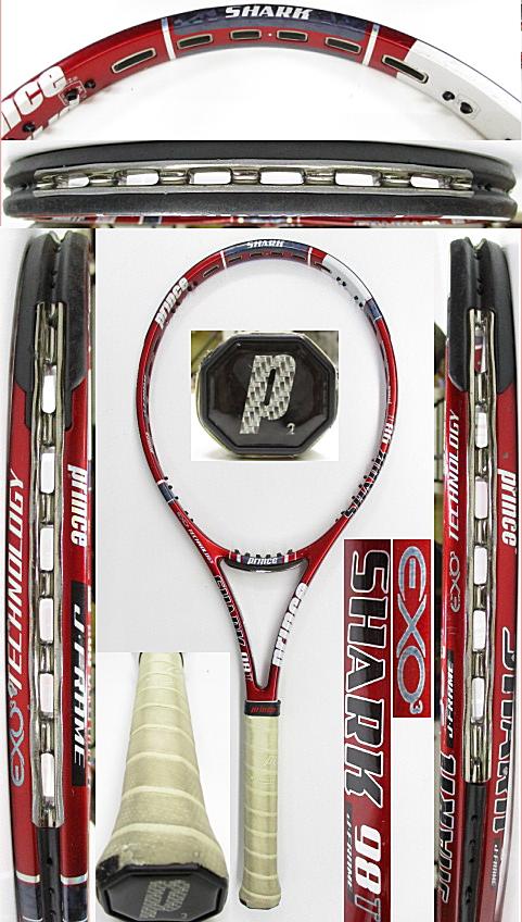 【中古 テニスラケット】P0744 プリンス EXO3シャーク98T