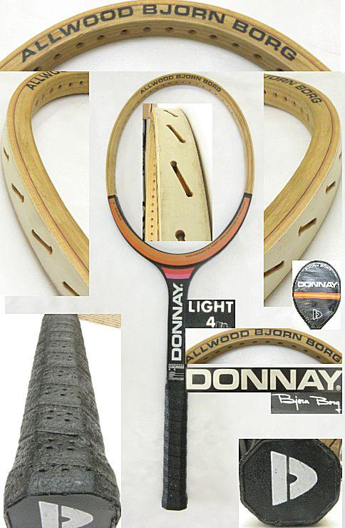 【中古 テニスラケット】VI-0013 ドネー ALLWOOD BJORN BORG