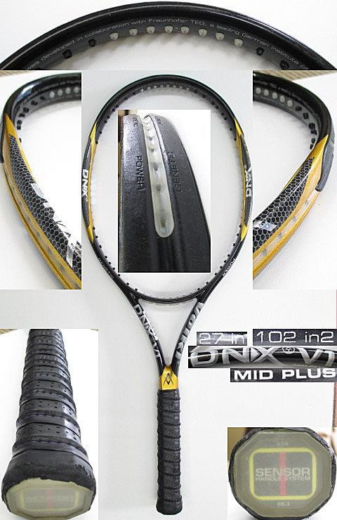 【中古 テニスラケット】VO-0234 フォルクル DNX V1 ミッドプラス