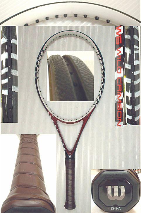 【中古テニスラケット】ウイルソン W6 WILD CRIMSON